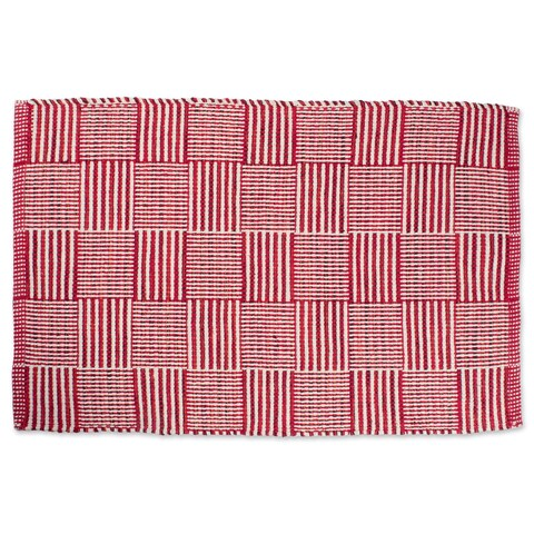 Design Imports Square Recycled Yarn Rug (24 inches wide x 36 inches long) - 2' x 3'