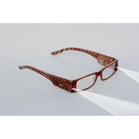 Multi Strength Eyeglass LED Reading Glasses LRG White Optic by Finess