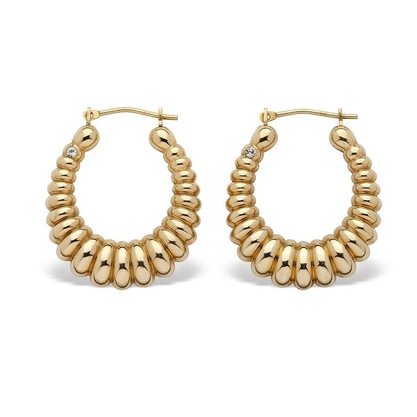 Shop 14k Yellow Gold Shrimp Style Hoop Earrings 24 5mm Free