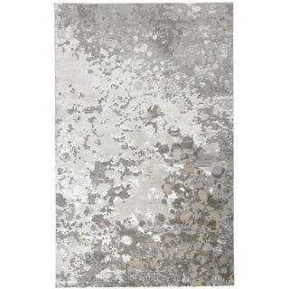 Grand Bazaar Orin Silver/Gray Contemporary Abstract 8 x 11 Area Rug - 8' x 11'