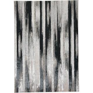 """Grand Bazaar Orin Black/Gray 10' x 13'2 Abstract Contemporary Area Rug - 10' x 13'2"""""""