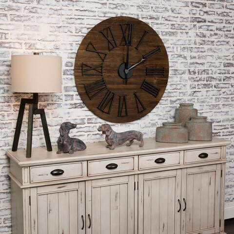 "Washington 35.5"" Wood Wall Clock - 35.5""Rnd x 2.25""D"