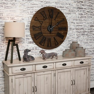 """Link to Washington 35.5"""" Wood Wall Clock Similar Items in Decorative Accessories"""