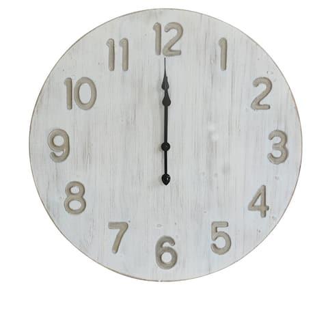 "Lincoln 28"" Wood Wall Clock"