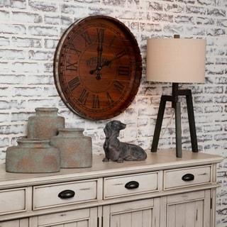 "Whiskey Barrell 24"" Decorative Wall Clock"