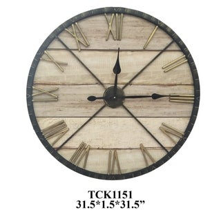 "Time Divided 31.5"" Decorative Wall Clock"