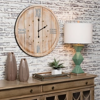 """Link to Rustic Time 30"""" Decorative Barrell Wall Clock Similar Items in Decorative Accessories"""