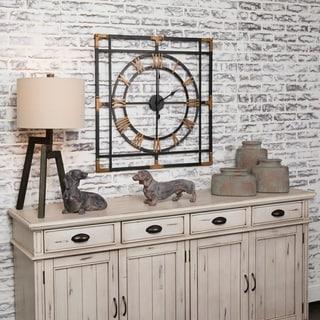 "Time Piece 32"" Decorative Metal Wall Clock"