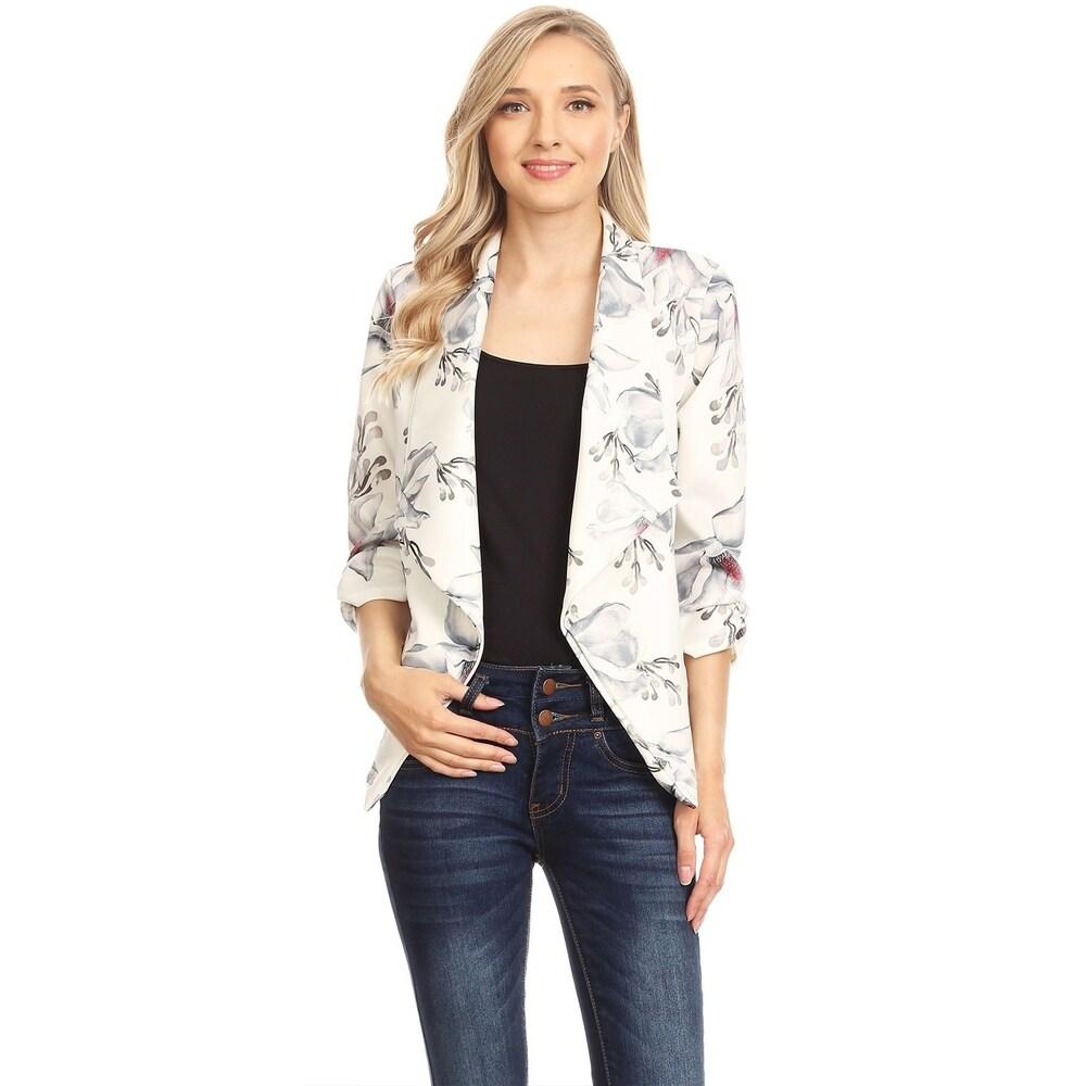 Womens Casual Draped Blazer Style Jacket