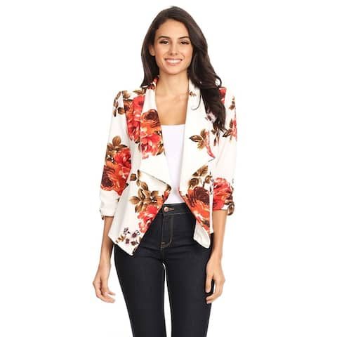 Women's Casual Draped Blazer Style Jacket