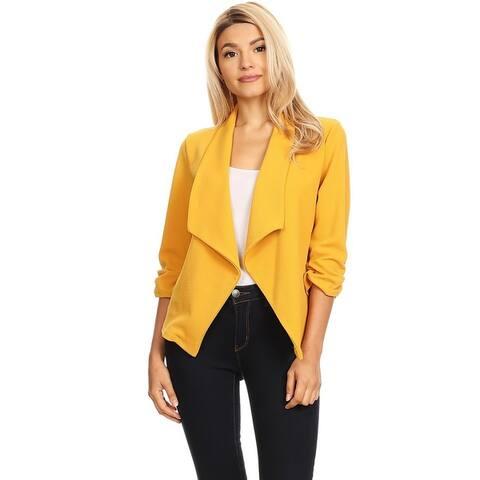 Women's Casual Draped Blazer Style Jacket