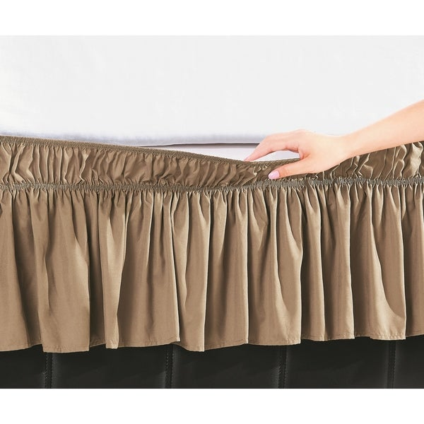 De Moocci Easy Wrap Platform-Free 16-inch Drop Bed Skirt