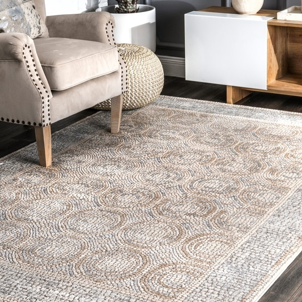 nuLOOM Traditional Vintage Faded Circle Frame Area Rug