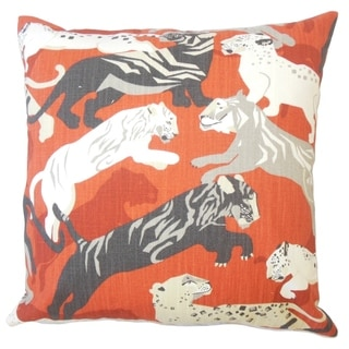 Valary Graphic Throw Pillow Persimmon