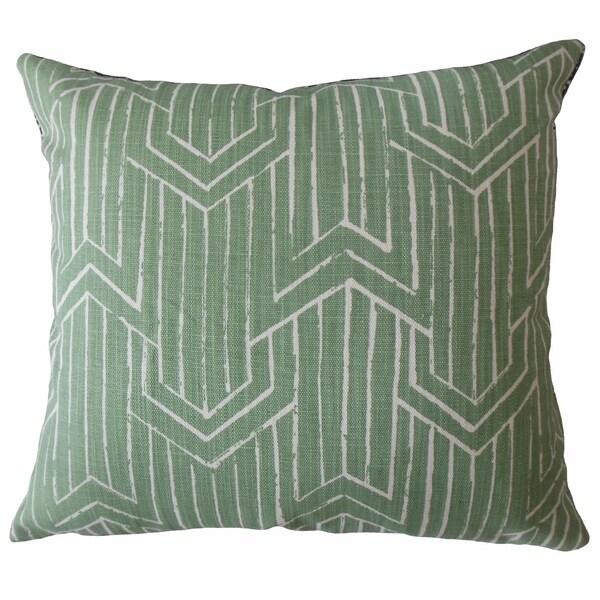 Daube Geometric Throw Pillow Succulent