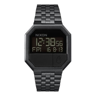 Nixon A158-001-00 Re-Run Stainless Steel Digital Mens Watch Black