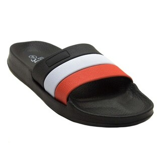 Blue Children's B-Blocks Synthetics Slide Sandals