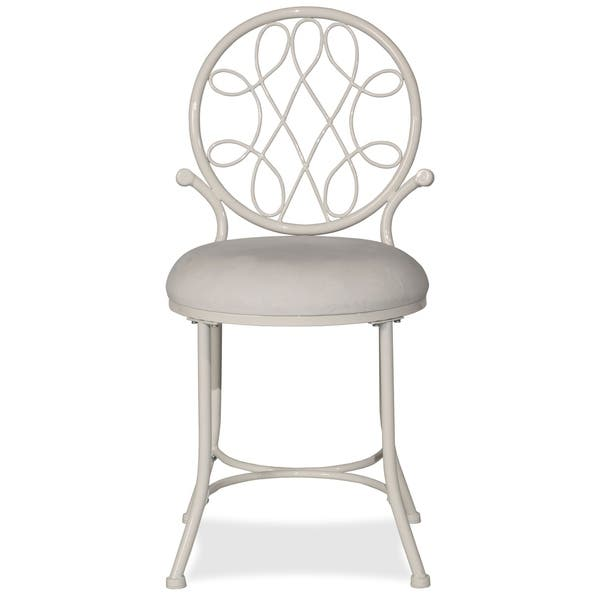 Miraculous Shop Hillsdale Furniture Omalley Vanity Stool On Sale Machost Co Dining Chair Design Ideas Machostcouk