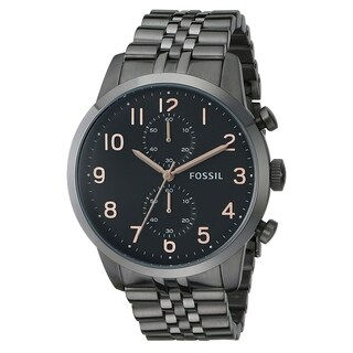Fossil Men's FS4934 Townsman Chronograph Black Dial Gunmetal Stainless Steel Bracelet Watch