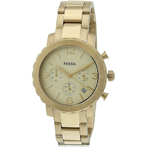 Fossil Women's AM4422 Natalie Chronograph Gold Stainless Steel Bracelet Watch