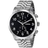 Fossil Men's FS4875 Townsman Chronograph Black Dial Silver Stainless Steel Bracelet Watch