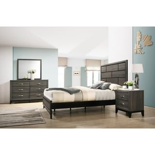 Stout Panel Bedroom Set with Bed, Dresser, Mirror, Night Stand