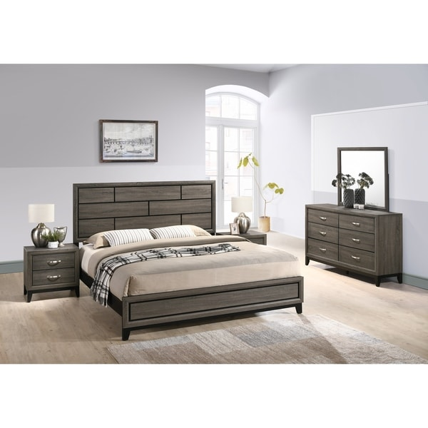 Shop Stout Panel Bedroom Set With Bed, Dresser, Mirror, 2