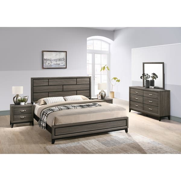 Shop Stout Panel Bedroom Set with Bed, Dresser, Mirror, 2 ...