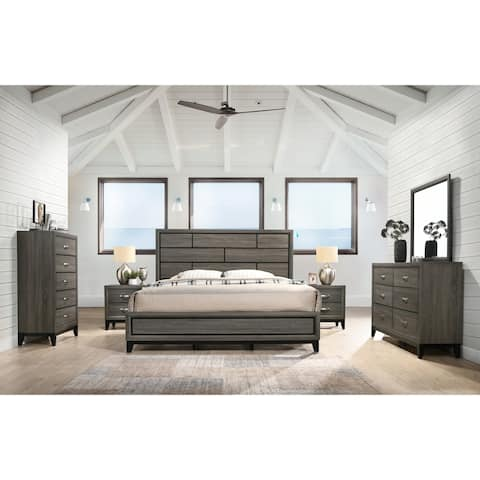 Stout Panel 6-piece Modern Contemporary Bedroom Set