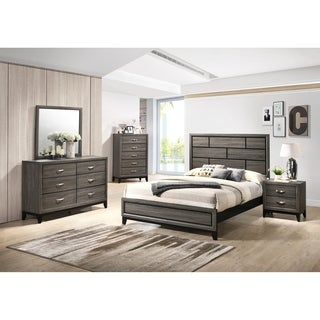 Stout Panel Bedroom Set with Bed, Dresser, Mirror, Night Stand, Chest