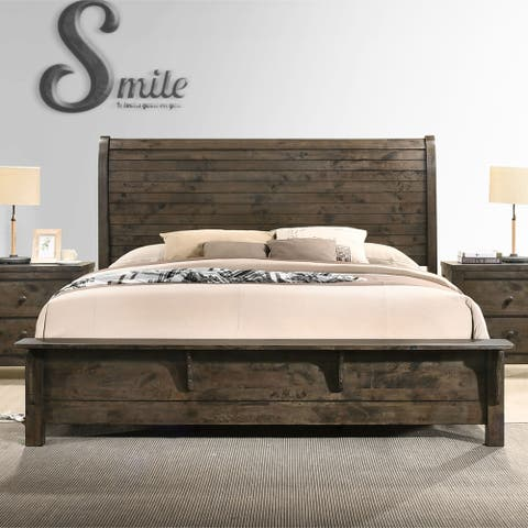 Carbon Loft Guinevere Classic Grey-Brown Sleigh Bed