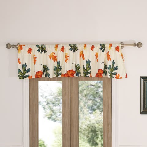 Barefoot Bungalow Falling Leaves Window Valance