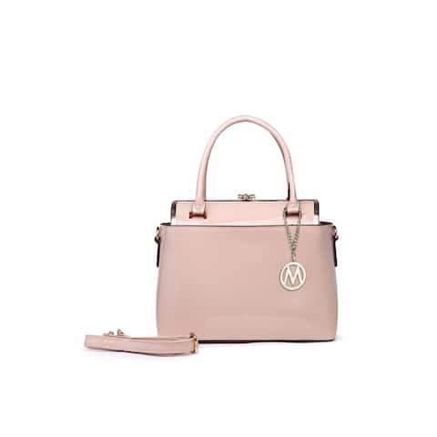 MKF Collection Marisol Glossy Handbag By Mia K. by  Bargain