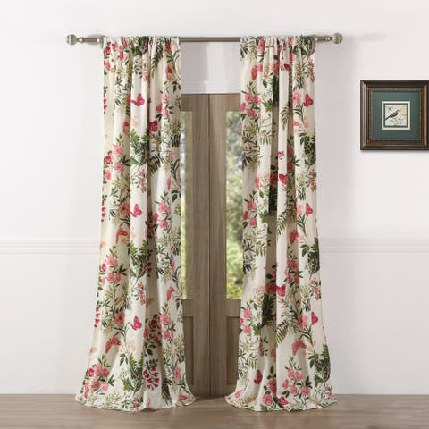 Greenland Home Butterflies Curtain Panel Pair - 42 x 84