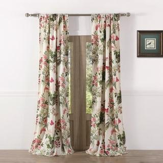 Shop Lush Decor Emma Rosette 84 Inch Curtain Panel 54 X