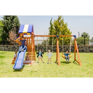 Sportspower Willow Creek Wooden Swing Set - N/A