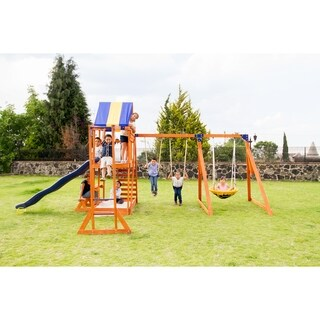 Sportspower Grand Mesa Wooden Swing Set - N/A