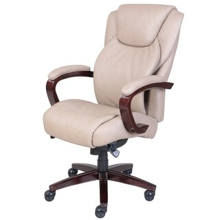 La-Z-Boy® Linden ComfortCore® Traditions AIR Technology Executive Office Chair - Taupe