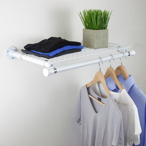 InStyleDesign Single Shelf with hanger - White