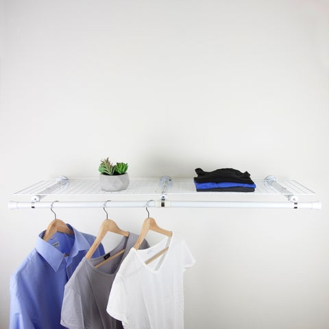 InStyleDesign Double Shelf with hanger - White