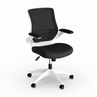 Havenside Home Bellport White Frame Mesh Seat Office Chair