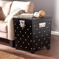 Copper Grove Liatris Black and Satin Silver Side/ End Table Trunk
