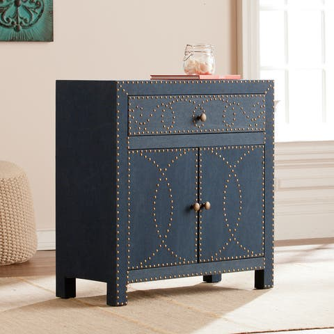 The Curated Nomad Belize Navy Double-door Storage Cabinet