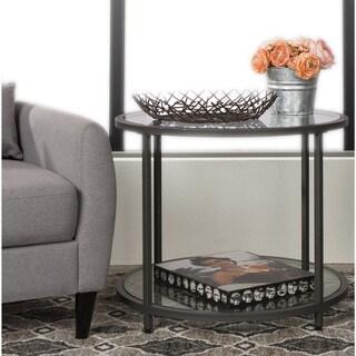 Carbon Loft Heimlich Pewter Metal Round Side Table