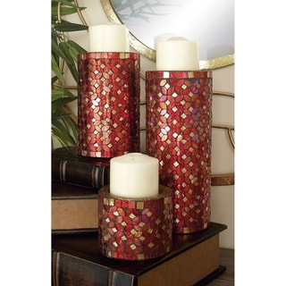 The Curated Nomad Lotta Metal Mosaic Candle Holders (Set of 3)