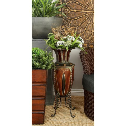 The Curated Nomad Belli Tuscany Style Metal Vase