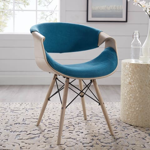 Carson Carrington Tvedestrand Contemporary Teal Velvet Accent Chair