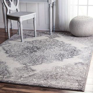 The Gray Barn Bowdon Transitional Medallion Area Rug
