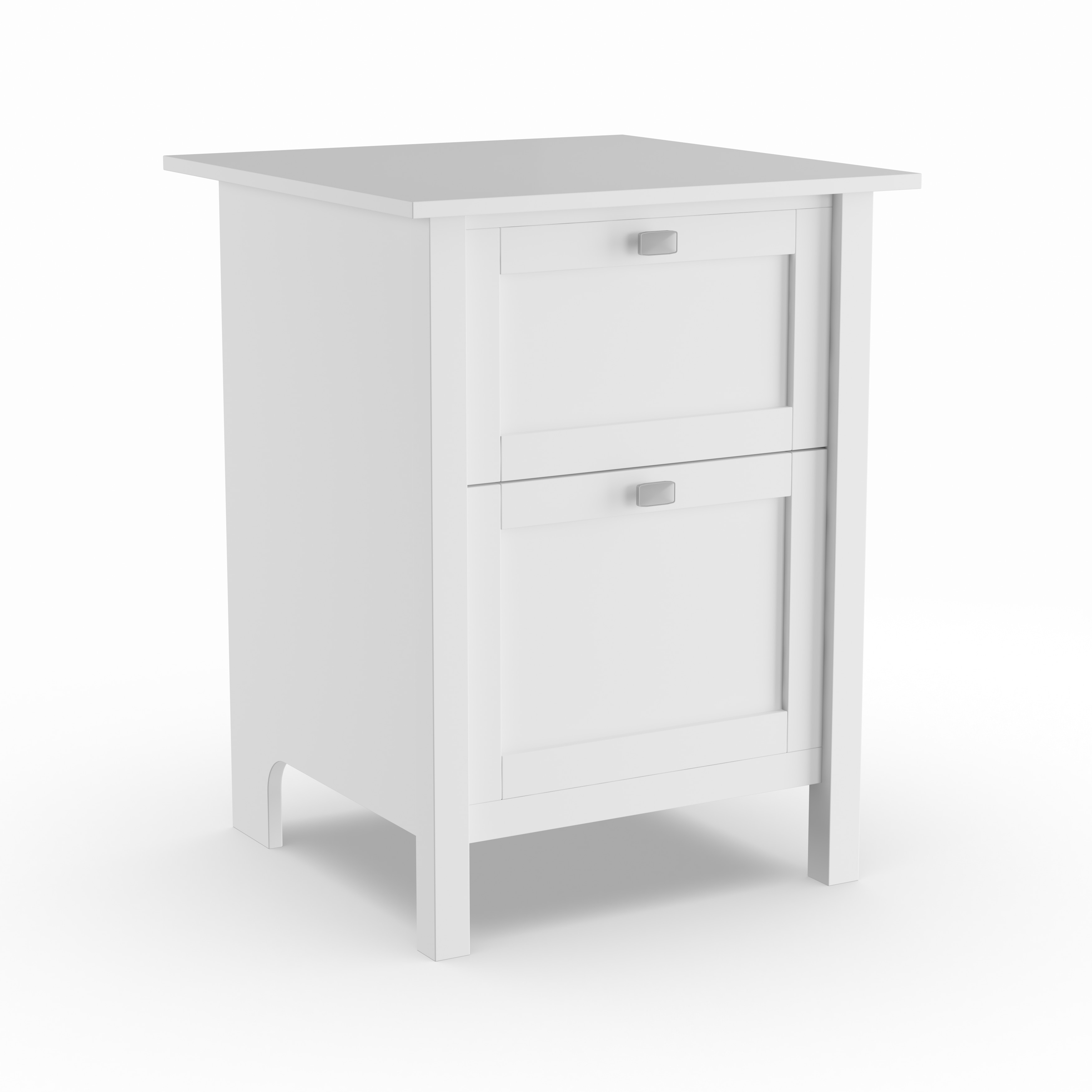2 Drawer File Cabinet In Pure White