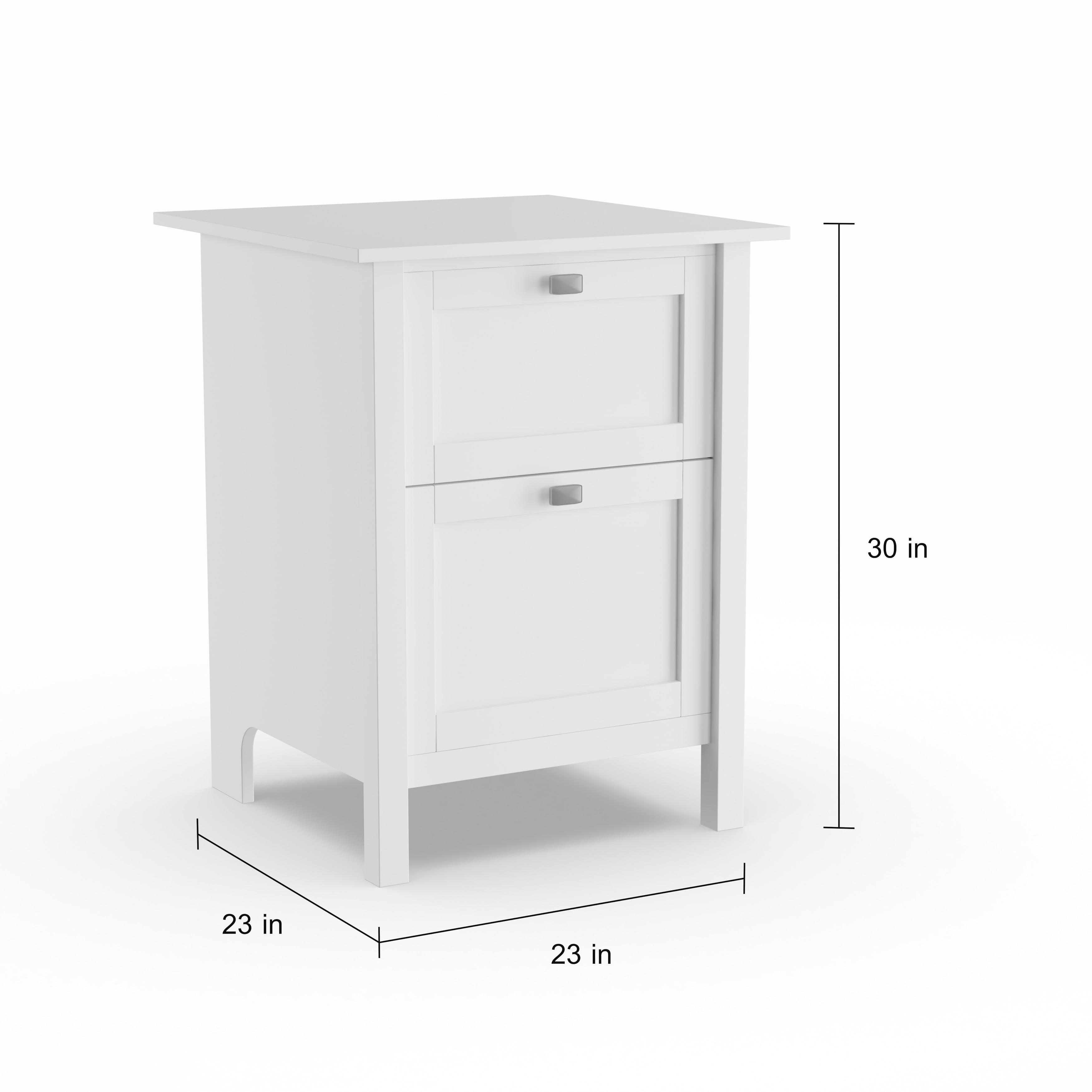 Picture of: Copper Grove Rustavi 2 Drawer File Cabinet In Pure White Overstock 22727375